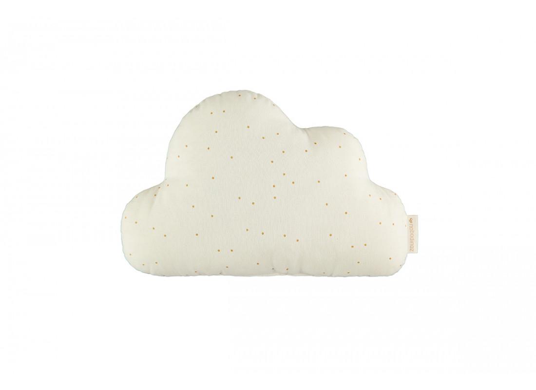 Coussin Cloud honey sweet dots natural