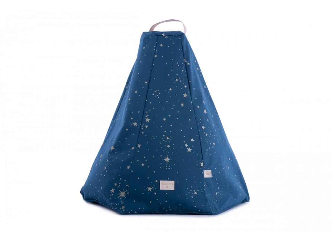 Pouf Marrakech gold stella/ night blue