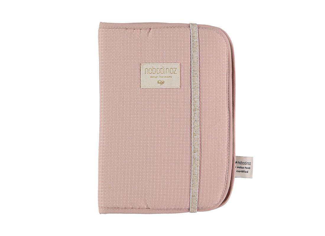 Protège-carnet de santé A5 Poema • nid d'abeille misty pink