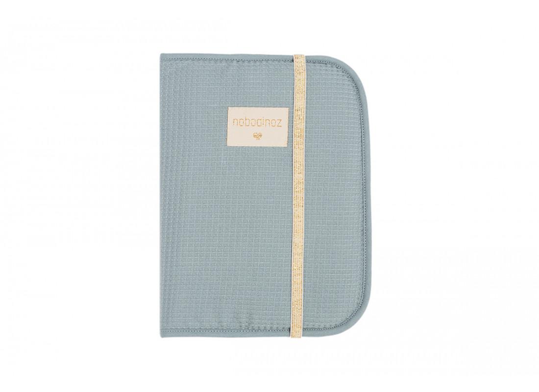 Protège-carnet de santé A5 Poema • nid d'abeille stone blue