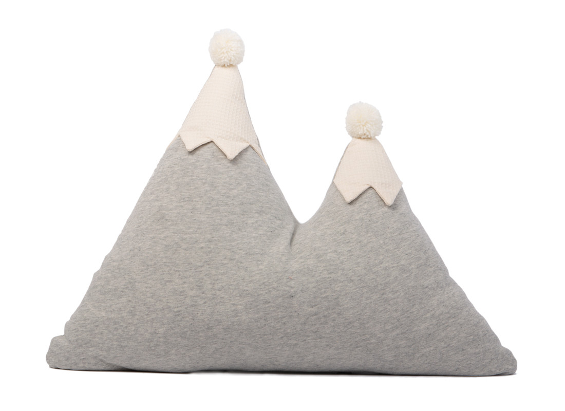 Coussin montagne Snowy 40x50 gris vigoré