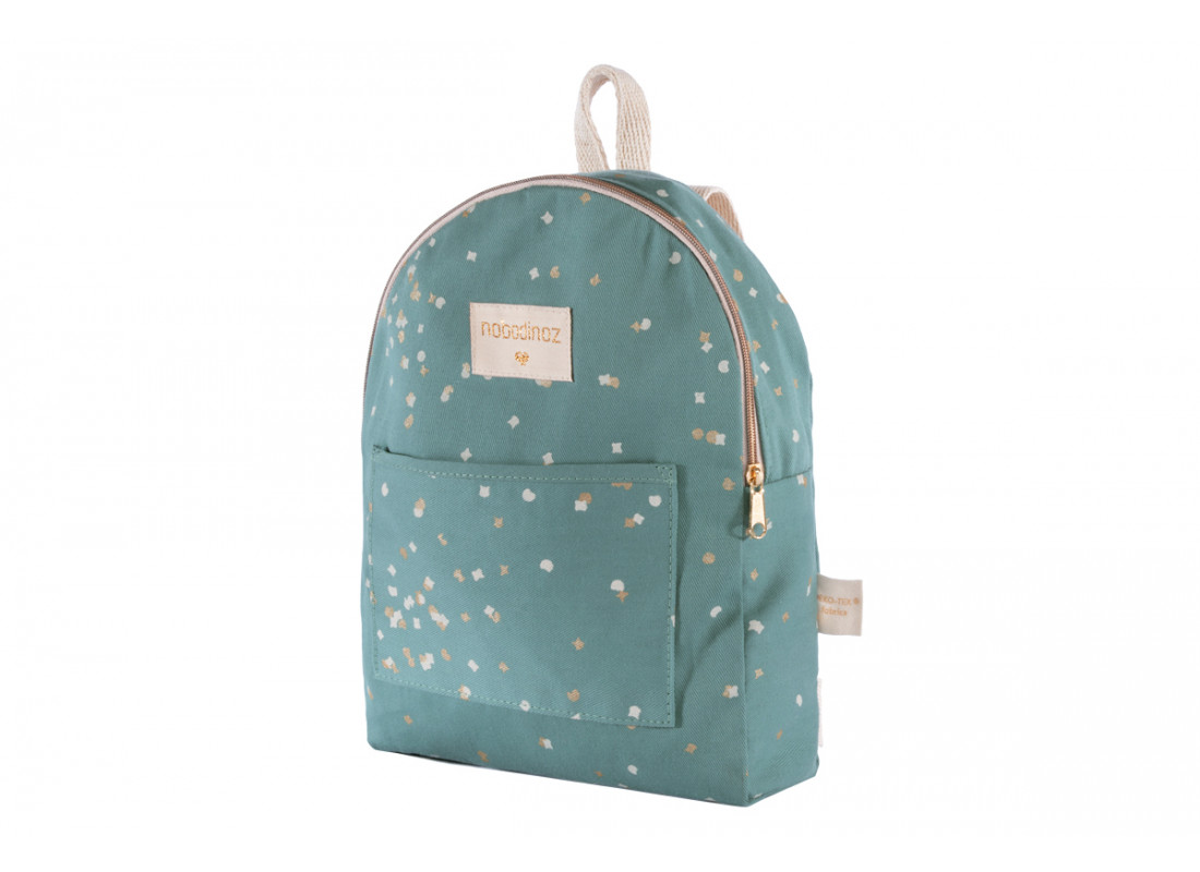 Mini sac à dos Too Cool gold confetti/ magic green