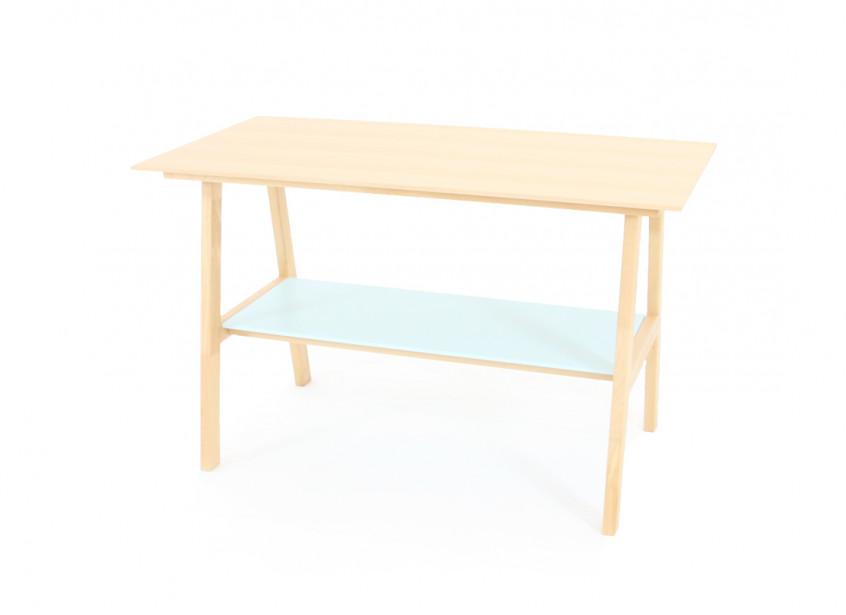 Table en bois de hêtre massif - tropical green