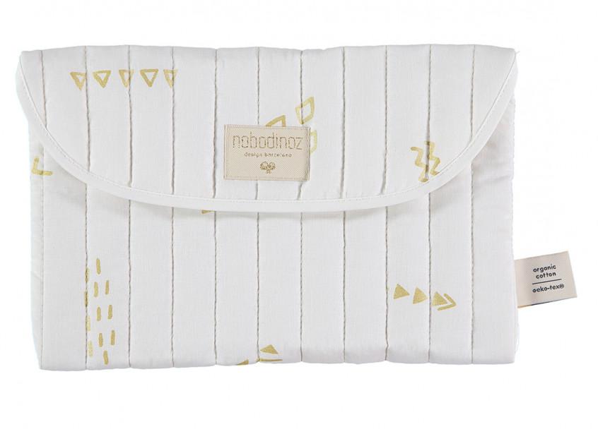 Pochette Bagatelle 19x27 gold secrets/ white
