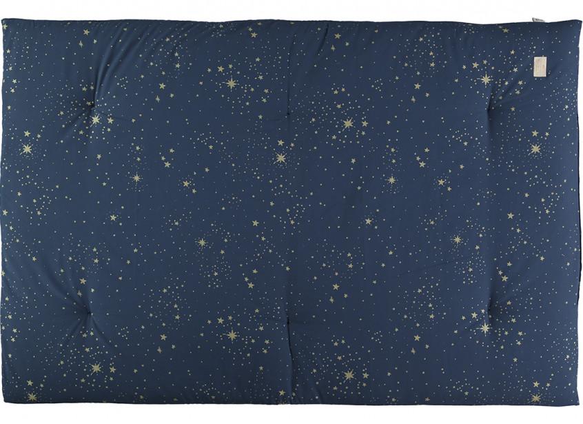 Futon Eden 148x100x6 Gold Stella Night Blue Website Officiel