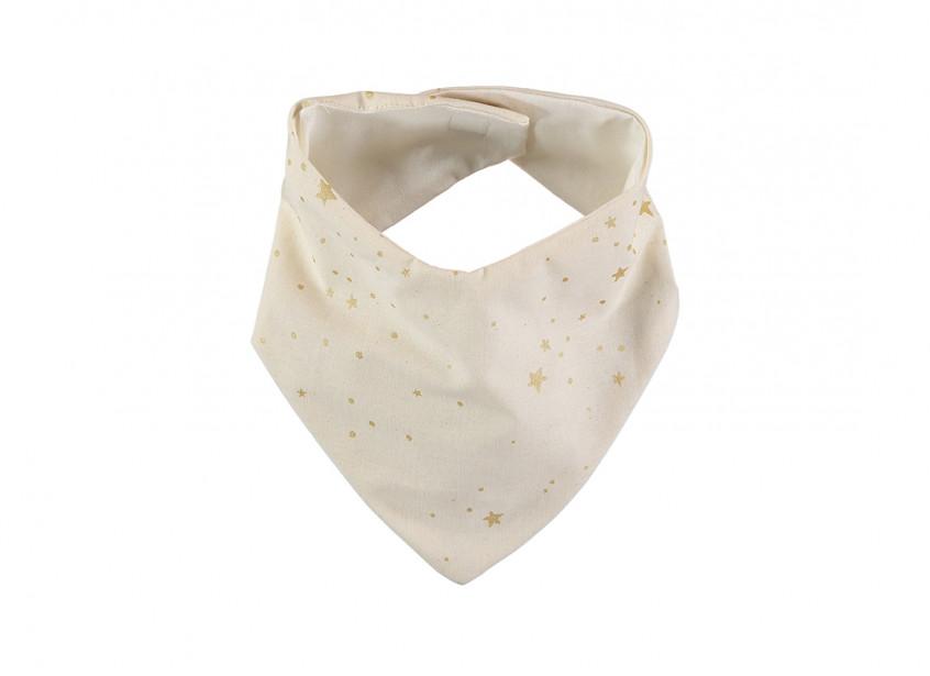 Bavoir bandana Lucky 16x43 gold stella/ natural