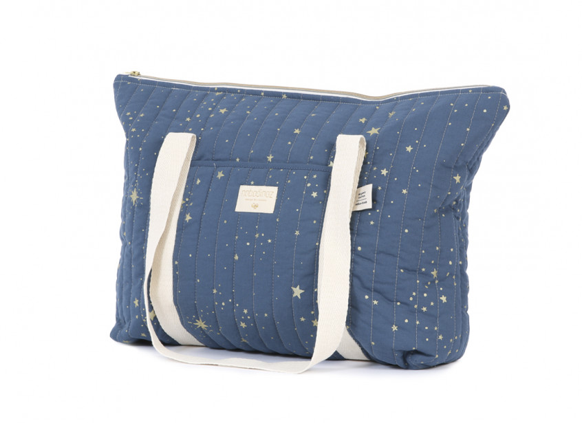 Sac maternité Paris 34x50x12 gold stella/ night blue