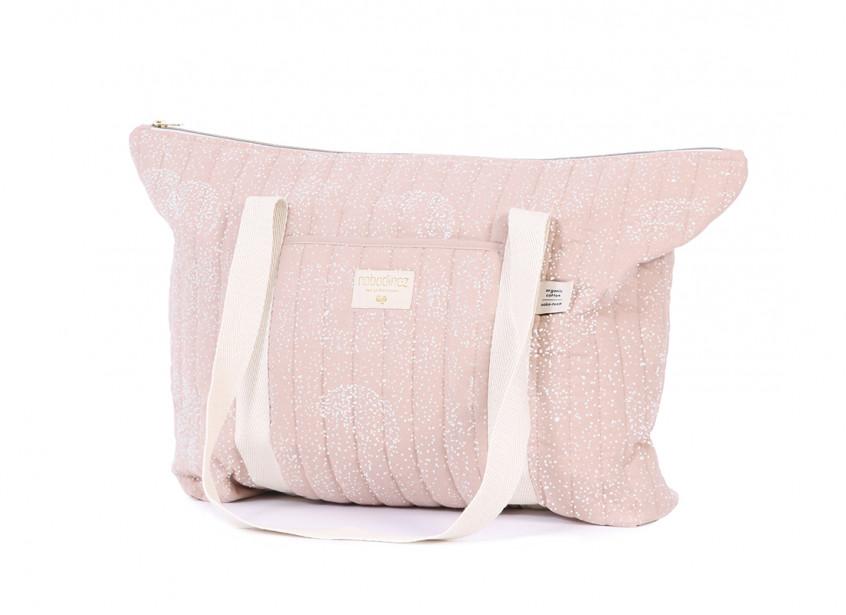 Sac maternité Paris 34x50x12 white bubble/ misty pink