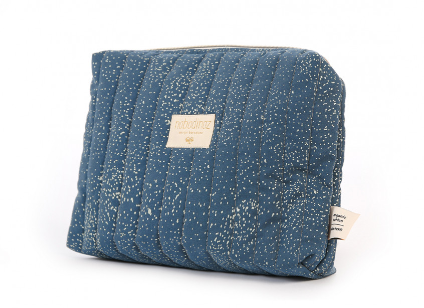 Trousse de toilette Travel gold bubble night blue