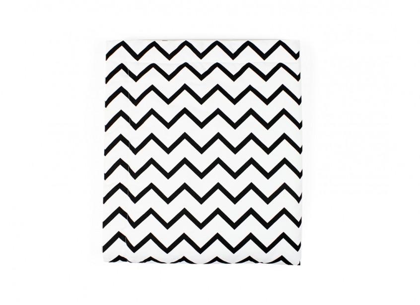 blanket copenhague zigzag noir – mini