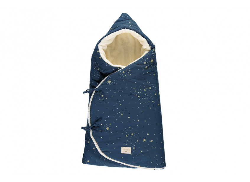 Nid d'ange d'hiver Cozy 0-3 M gold stella/ night blue