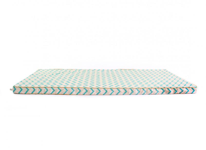 Matelas de sol Saint Tropez • zigzag green