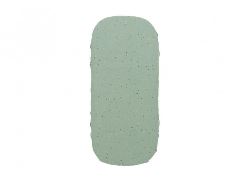 Drap housse couffin Melody • toffee sweet dots eden green