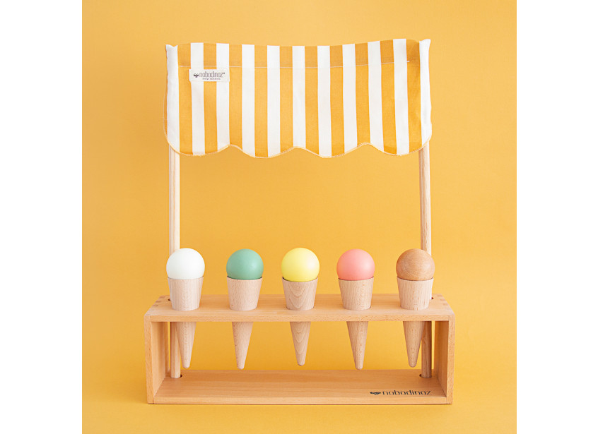 Glacier ice cream corner 40x46x10cm