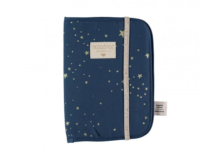 Protège-carnet de santé A5 Poema • gold stella night blue
