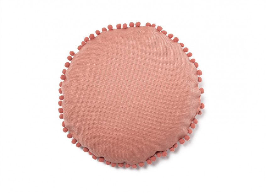 Coussin rond Sunny 37x37 dolce vita pink