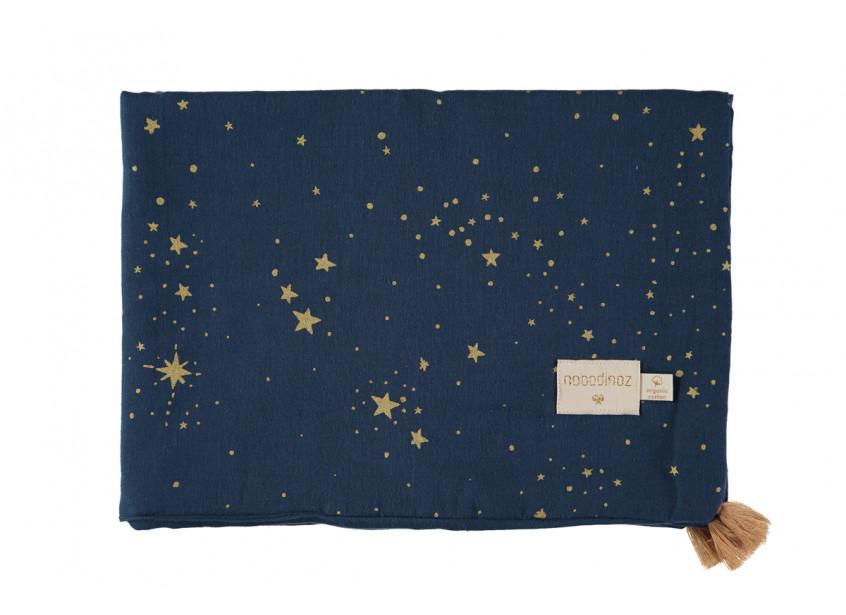 Couverture d'été Treasure 70x100 gold stella/ night blue