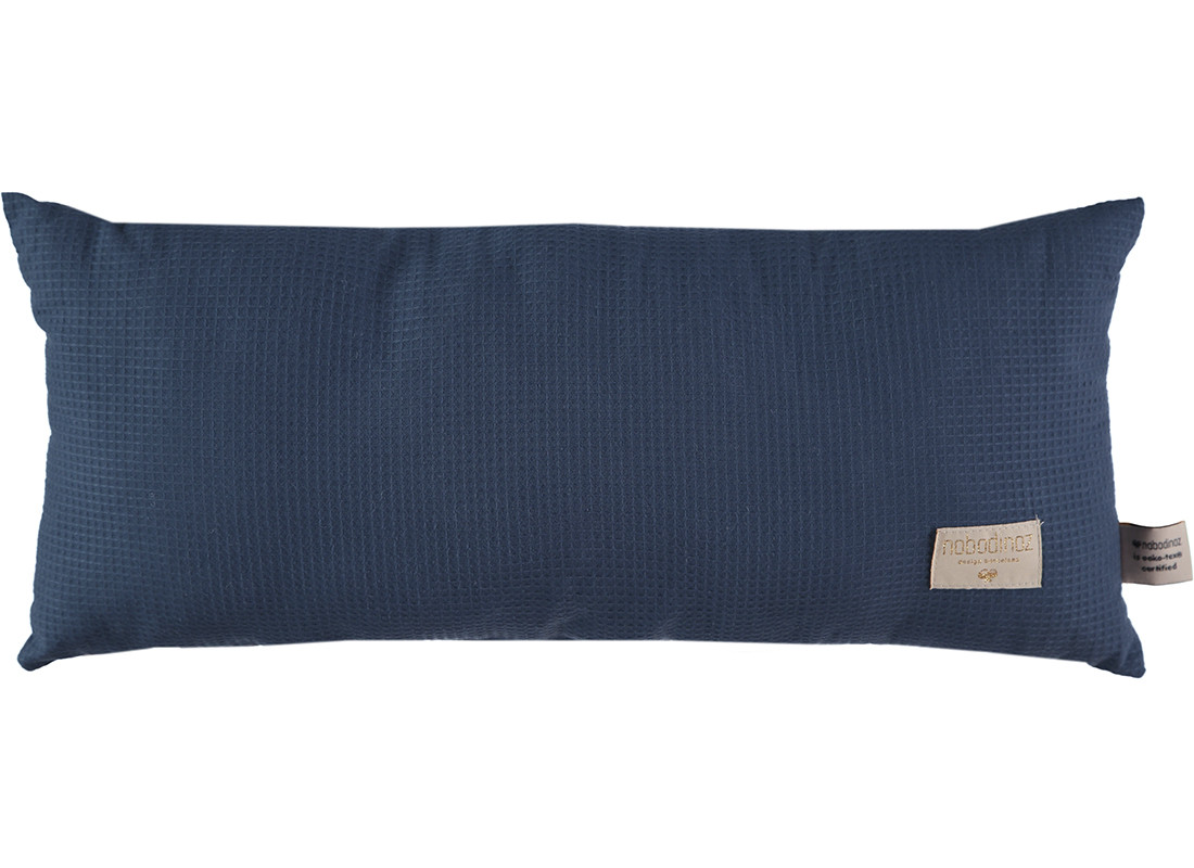 Coussin Hardy nid d'abeille 22x52 night blue - Cou...