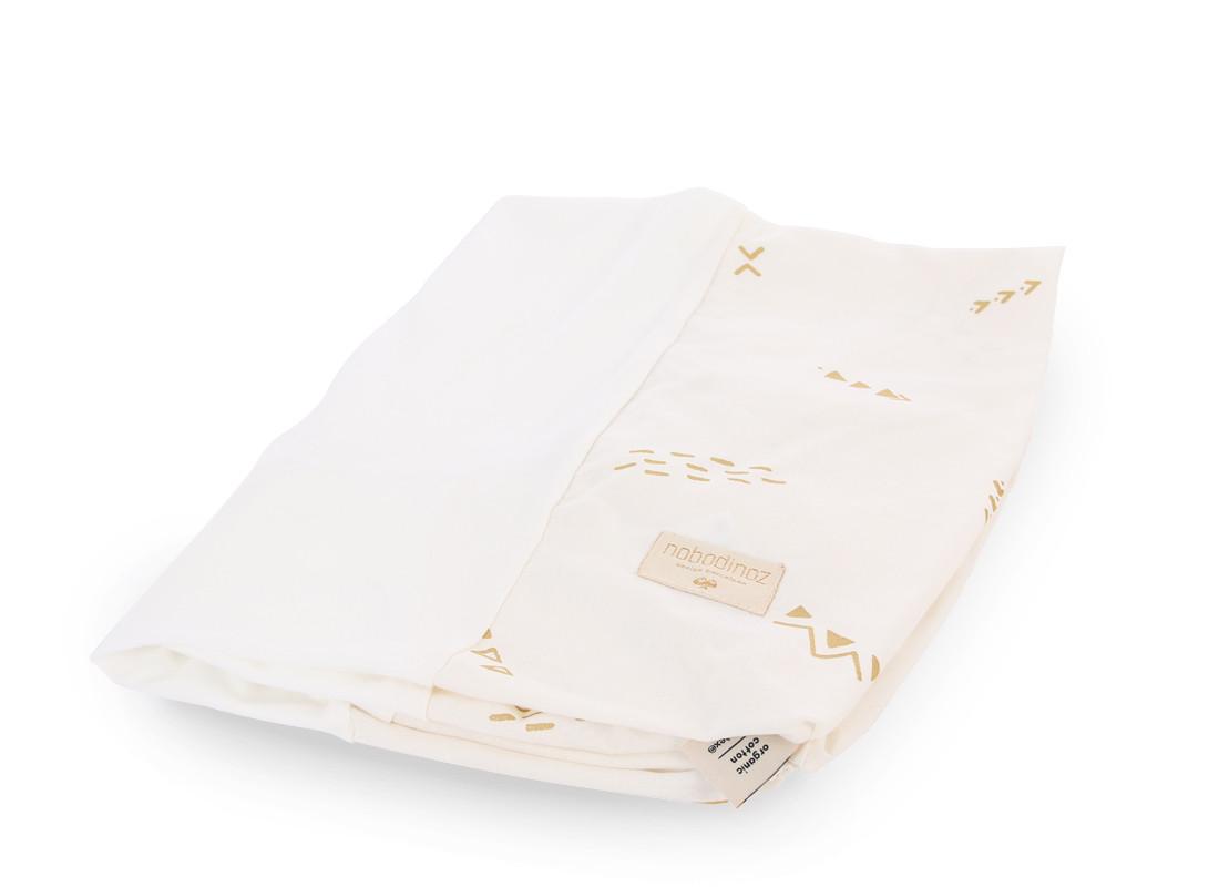 housse de matelas langer calma 70x50 gold secrets white nobodinoz site officiel d co pour. Black Bedroom Furniture Sets. Home Design Ideas