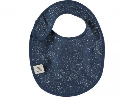 Bavoir Candy 34x26 gold bubble/ night blue