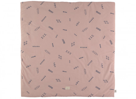 Tapis de jeu Colorado 100x100 blue secrets/ misty pink