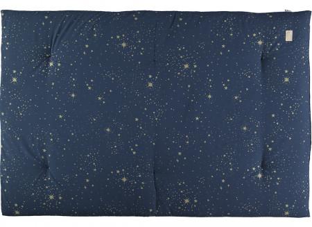 Futon Eden 148x100x6 gold stella/ night blue