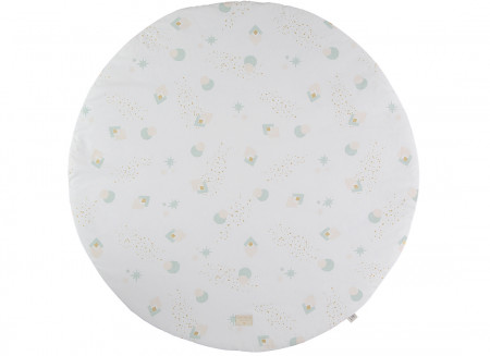 Tapis de jeu rond Full Moon small 105x105 aqua eclipse/ white