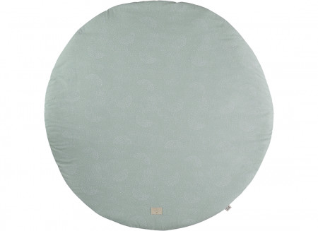 Tapis de jeu rond Full Moon small 105x105 white bubble/ aqua