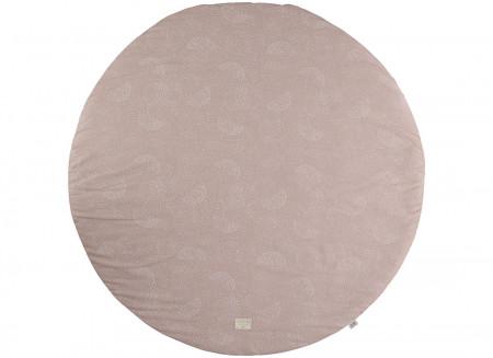 Tapis de jeu rond Full Moon small 105x105 white bubble/ misty pink