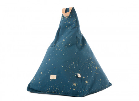 Pouf Keops 65x50x50 gold stella/ night blue