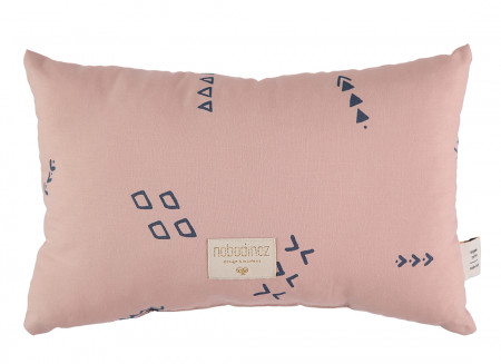 Coussin Laurel 22x35 blue secrets/ misty pink