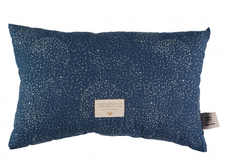 Coussin Laurel gold bubble night blue