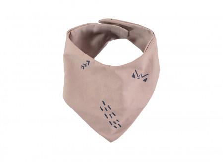 Bavoir bandana Lucky 16x43 blue secrets/ misty pink