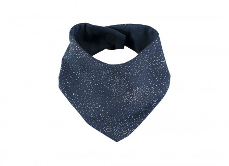Bavoir bandana Lucky 16x43 gold bubble/ night blue