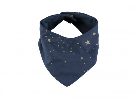 Bavoir bandana Lucky 16x43 gold stella/ night blue