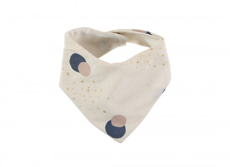Bavoir bandana Lucky 16x43 night blue eclipse/ natural