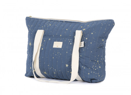 Sac maternité Paris 34x50x12 gold stella/ night blue