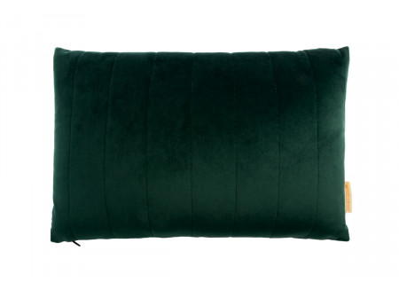 Akamba velvet cushion jungle green