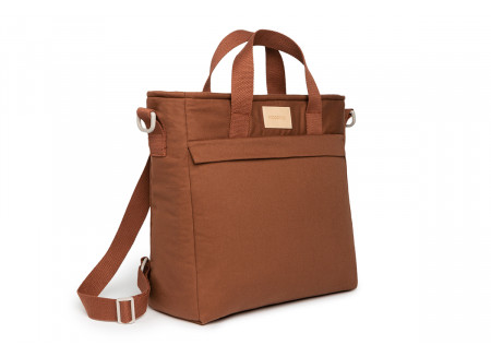 Sac à dos à langer imperméable Baby on the go • clay brown