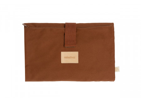 Tapis à langer imperméable Baby on the go • clay brown
