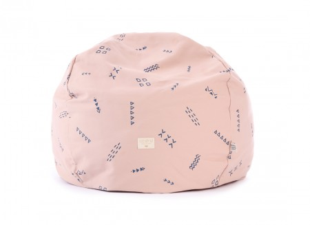 Pouf Balloon 44x60x60 blue secrets/ misty pink