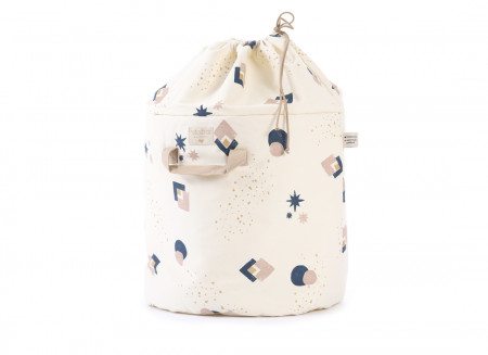 Sac à jouets Bamboo night blue eclipse/ natural - 2 tailles
