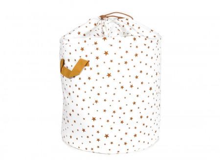 Sac à jouets Baobab étoiles moutarde - 2 tailles