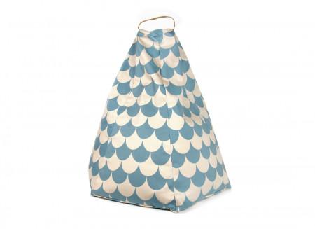 Pouf pour enfant Marrakech • blue scales