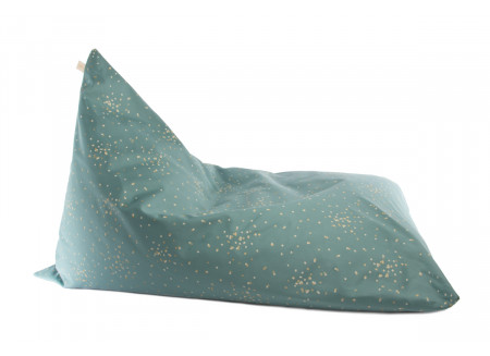 Pouf Essaouira gold confetti/ magic green