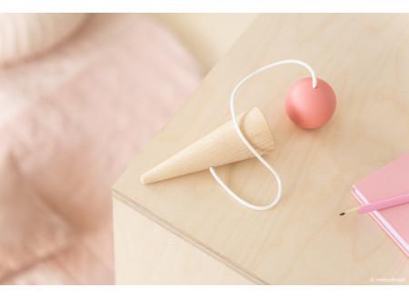 Bilboquet en bois • pink