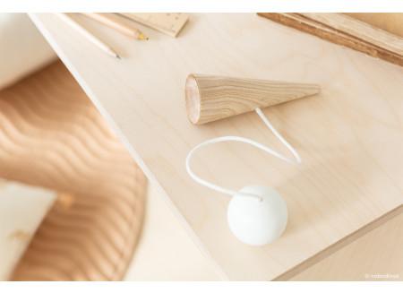 Bilboquet en bois • white
