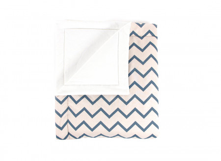 blanket copenhague zigzag bleu – adulte