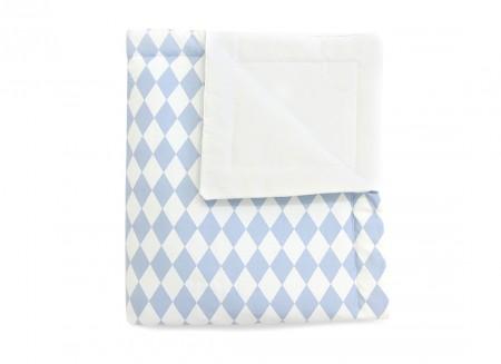 couverture Copenhaguen losanges bleues - 2 tailles