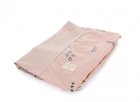 Housse de matelas à langer Calma 70x50 blue secrets/ misty pink